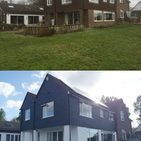 Yalding before and after, Exterior renovation