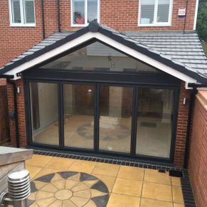 Rear Extension with bi-folds and complex roof