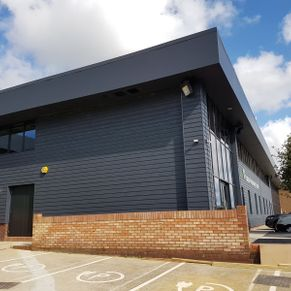Paxton Technology Centre, Operal Soffit and fascia, Marley Cedral Cladding, Commercial